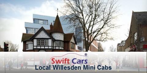 Willesden local minicabs on an app
