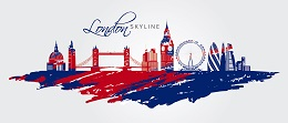 London skyline painted flag